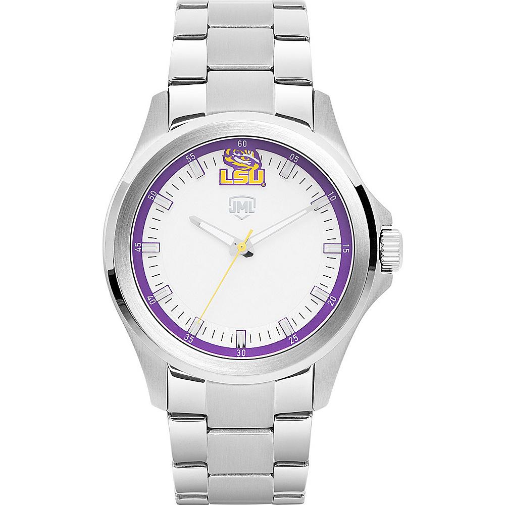 Jack Mason League Mens NCAA Silver Sport Watch LSU - Jack Mason League Watches - Fashion Accessories, Watches