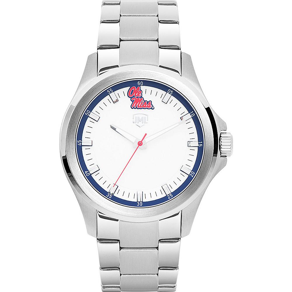 Jack Mason League Mens NCAA Silver Sport Watch Ole Miss - Jack Mason League Watches - Fashion Accessories, Watches