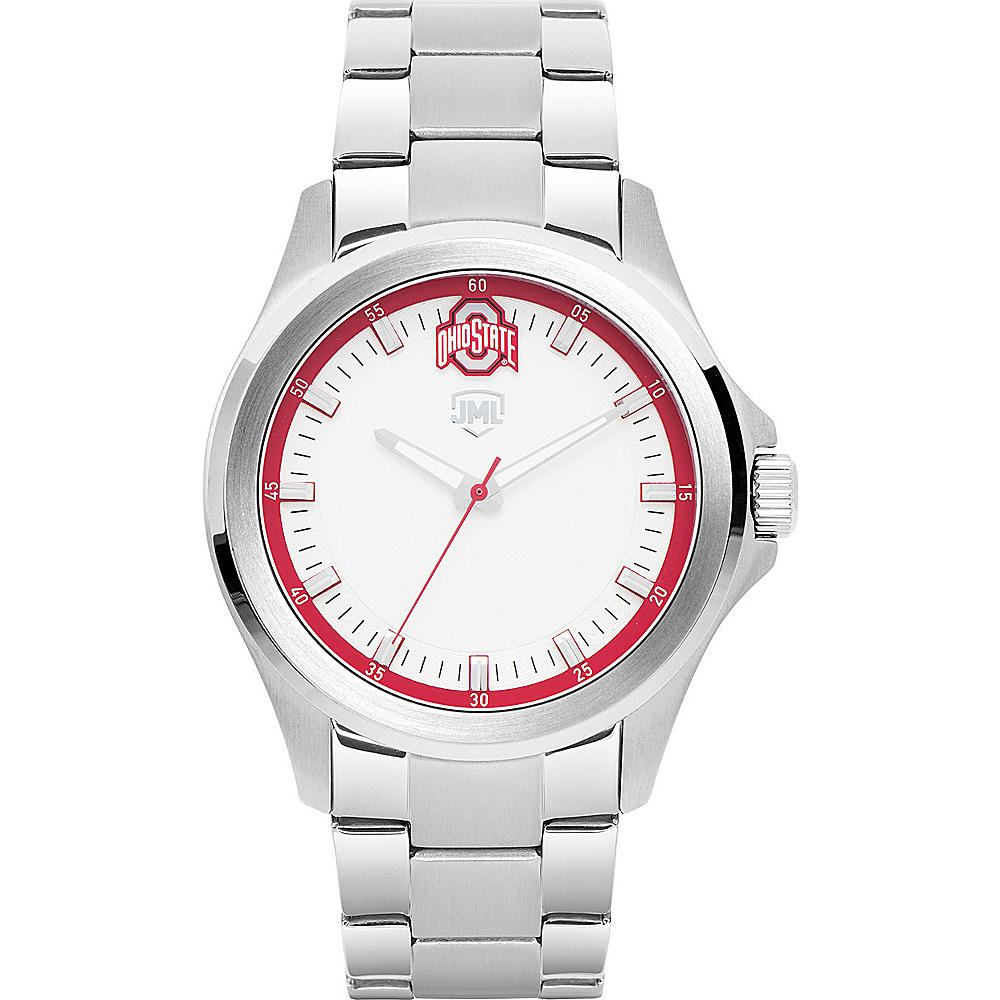Jack Mason League Mens NCAA Silver Sport Watch Ohio State - Jack Mason League Watches - Fashion Accessories, Watches