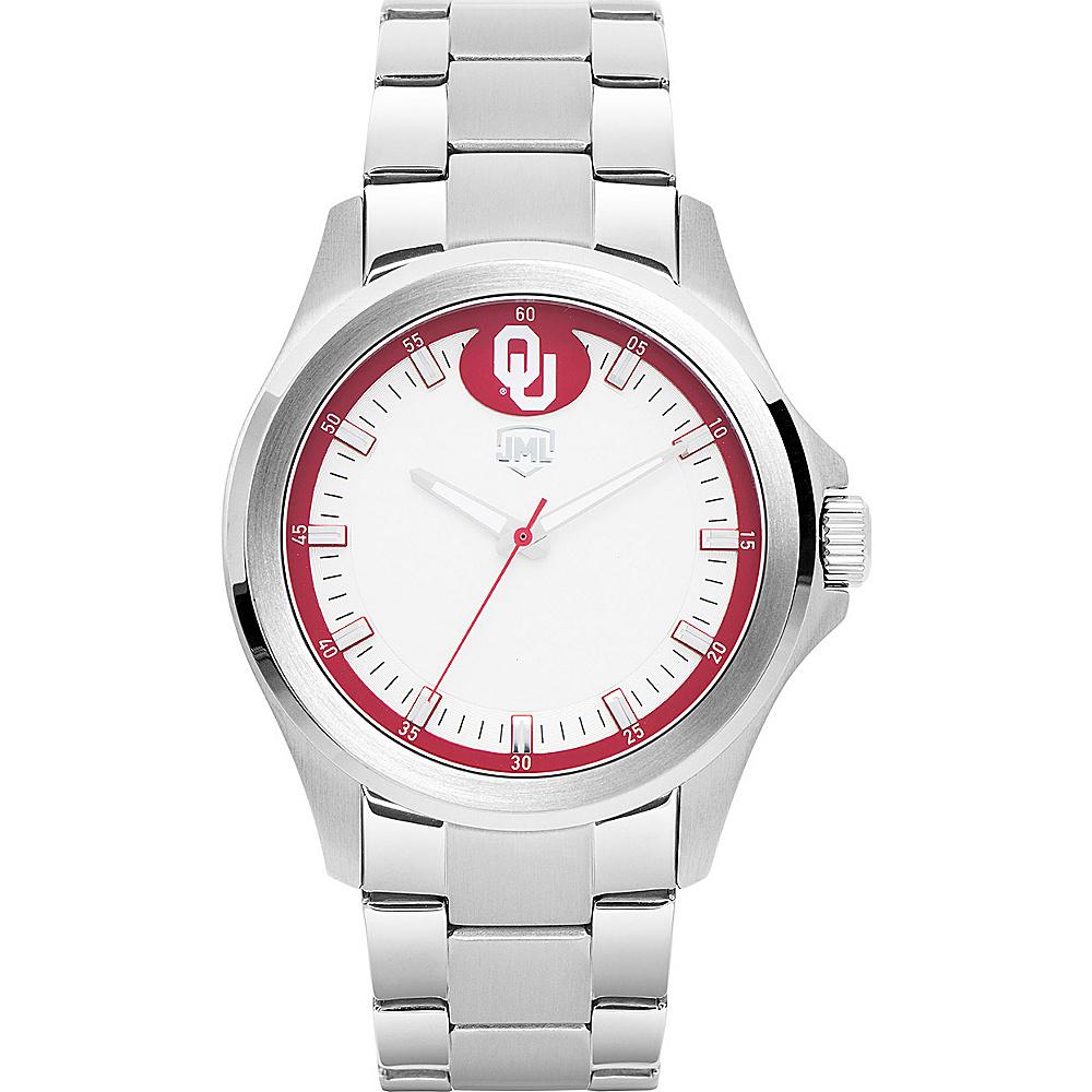 Jack Mason League Mens NCAA Silver Sport Watch Oklahoma - Jack Mason League Watches - Fashion Accessories, Watches