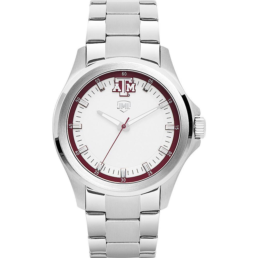 Jack Mason League Mens NCAA Silver Sport Watch Texas A&M - Jack Mason League Watches - Fashion Accessories, Watches