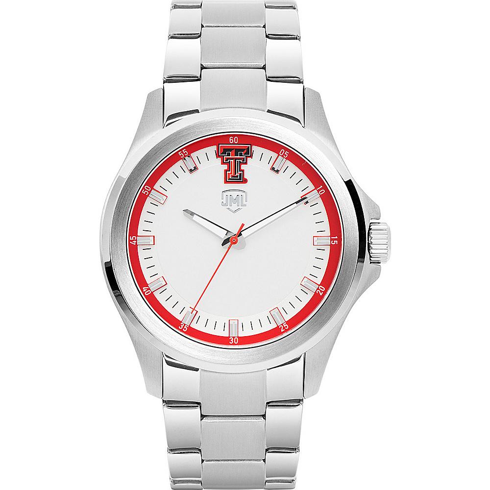 Jack Mason League Mens NCAA Silver Sport Watch Texas Tech - Jack Mason League Watches - Fashion Accessories, Watches