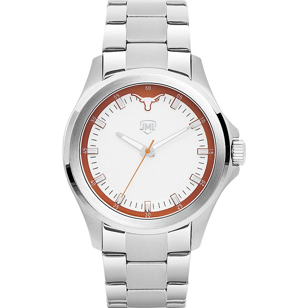 Jack Mason League Mens NCAA Silver Sport Watch Texas - Jack Mason League Watches - Fashion Accessories, Watches
