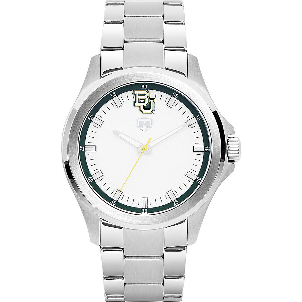 Jack Mason League Mens NCAA Silver Sport Watch Baylor - Jack Mason League Watches - Fashion Accessories, Watches