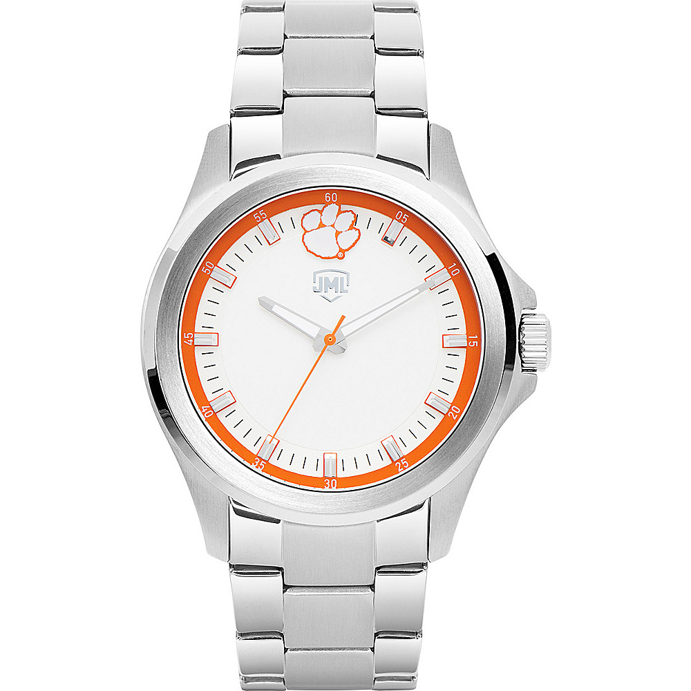 Jack Mason League Mens NCAA Silver Sport Watch Clemson - Jack Mason League Watches - Fashion Accessories, Watches