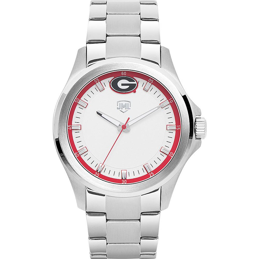 Jack Mason League Mens NCAA Silver Sport Watch Georgia - Jack Mason League Watches - Fashion Accessories, Watches