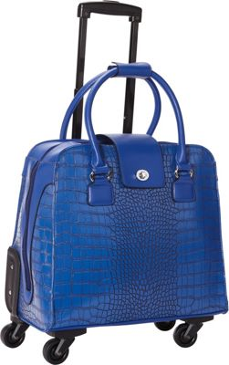 Hang Accessories Harlequin Crocodile Rolling Business Case Blue - Hang Accessories Wheeled Business Cases