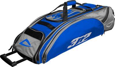 3N2 Go Bag Sports Rolling Duffel Royal/Silver - 3N2 Gym Bags