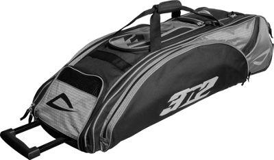 3N2 Go Bag Sports Rolling Duffel Black/Silver - 3N2 Gym Bags