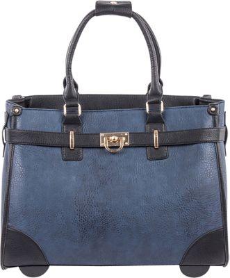 Bugatti Monica Ladies Wheeled Business Bag Blue - Bugatti Wheeled Business Cases