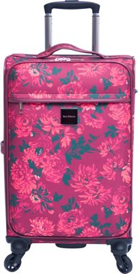Isaac Mizrahi Irwin 2 22 inch Carry-On Spinner Luggage Berry - Isaac Mizrahi Softside Carry-On