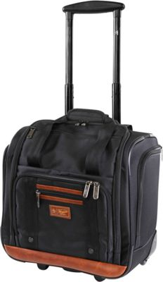 Original Penguin Luggage Underseat 16 inch Rolling Carry-On Tote Black - Original Penguin Luggage Softside Carry-On
