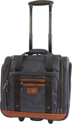 Original Penguin Luggage Underseat 16 inch Rolling Carry-On Tote Navy - Original Penguin Luggage Softside Carry-On
