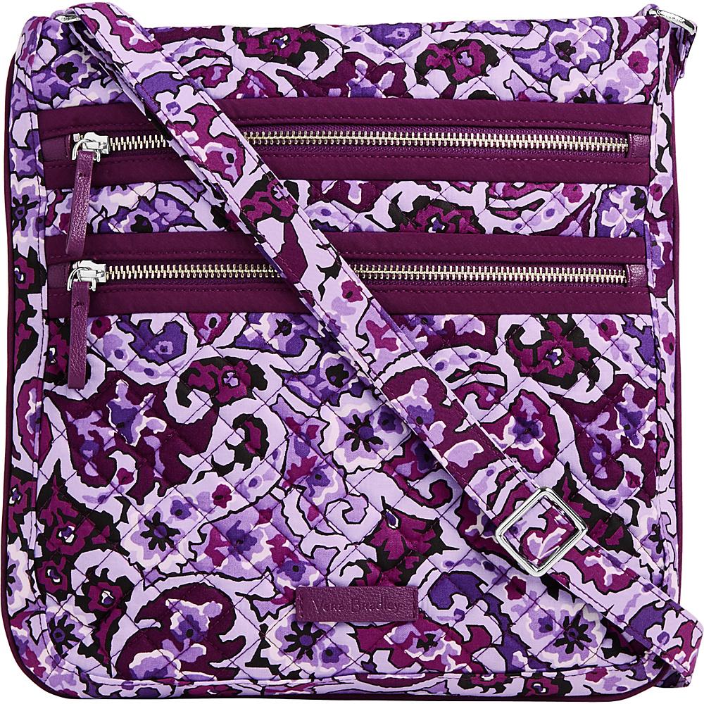Vera Bradley Iconic Triple Zip Hipster Lilac Paisley - Vera Bradley Fabric Handbags - Handbags, Fabric Handbags