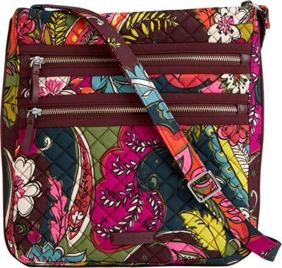 Vera Bradley Iconic Triple Zip Hipster Autumn Leaves - Vera Bradley Fabric Handbags