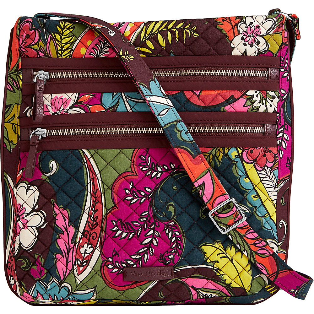 Vera Bradley Iconic Triple Zip Hipster Autumn Leaves - Vera Bradley Fabric Handbags - Handbags, Fabric Handbags