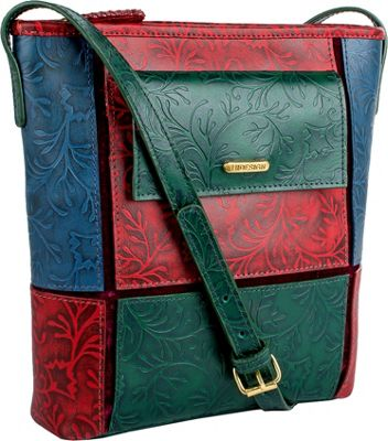 Hidesign Sindhu Leather Crossbody Red - Hidesign Leather Handbags