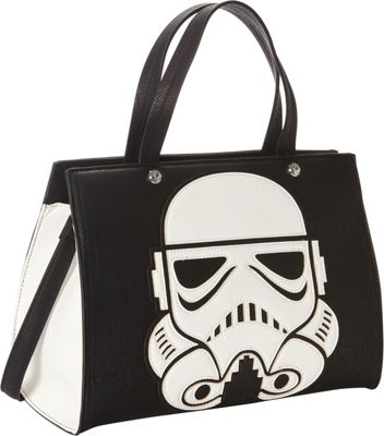 Loungefly Star Wars Laser Cut Storm Trooper Shoulder Bag Blk/Wht - Loungefly Manmade Handbags