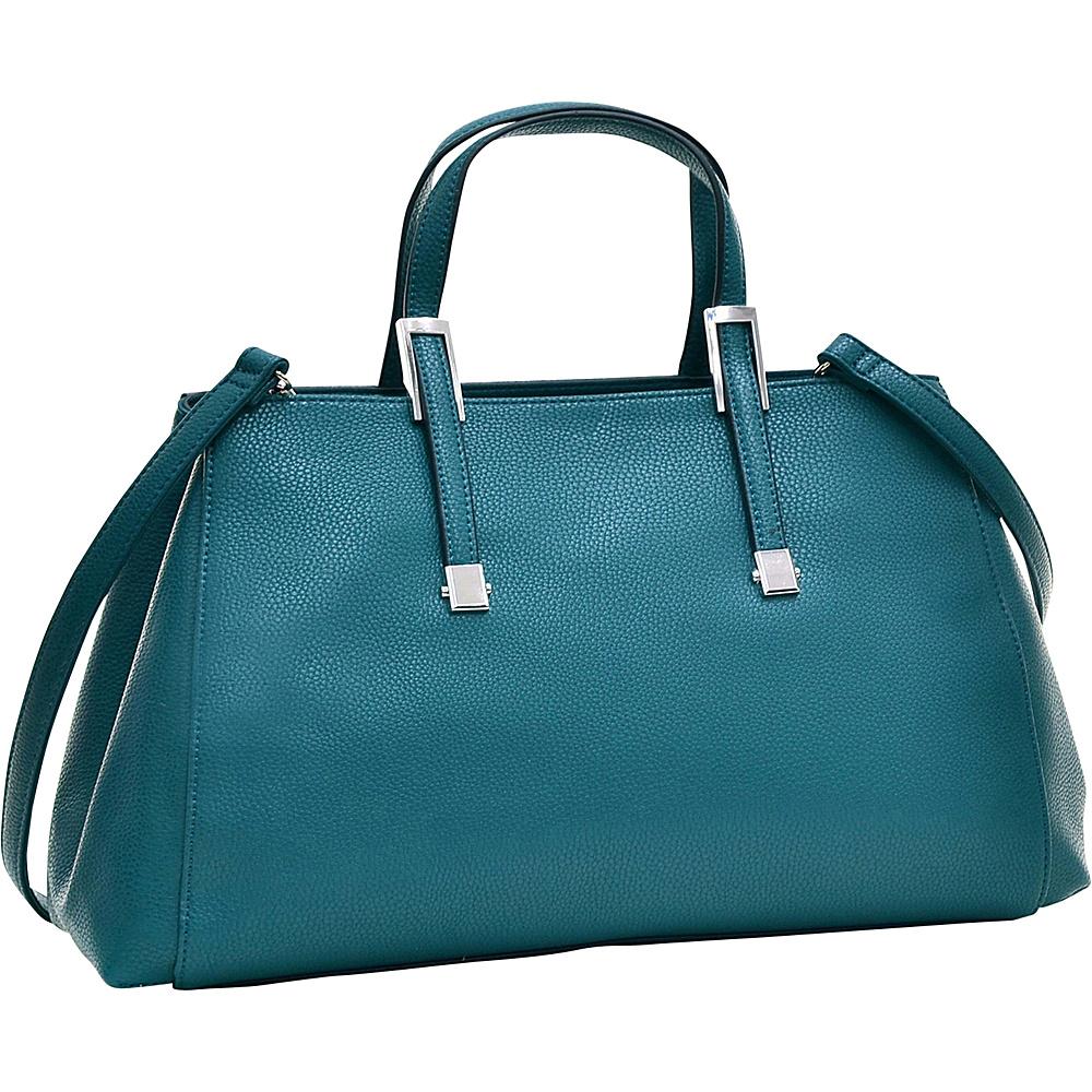 Dasein Faux Buffalo Small Classic Satchel Green - Dasein Manmade Handbags - Handbags, Manmade Handbags