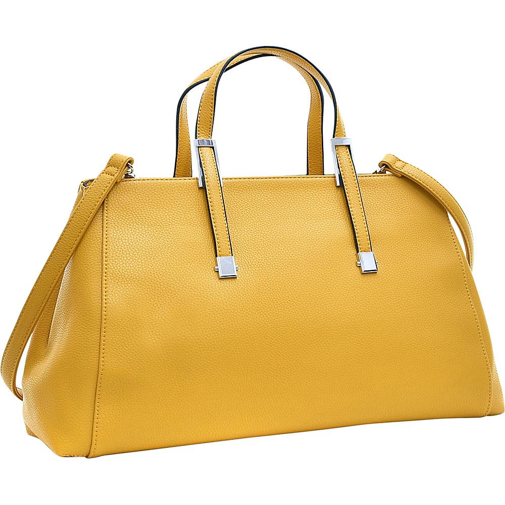 Dasein Faux Buffalo Small Classic Satchel Tan - Dasein Manmade Handbags - Handbags, Manmade Handbags