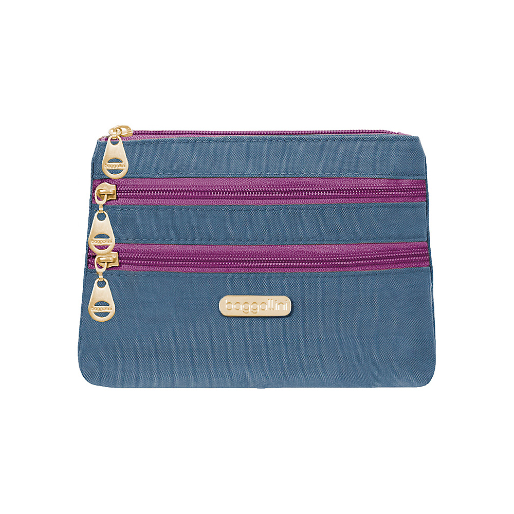 baggallini Shanghai 3 Zip Case - Retired Colors Slate Blue - baggallini Womens SLG Other - Women's SLG, Women's SLG Other