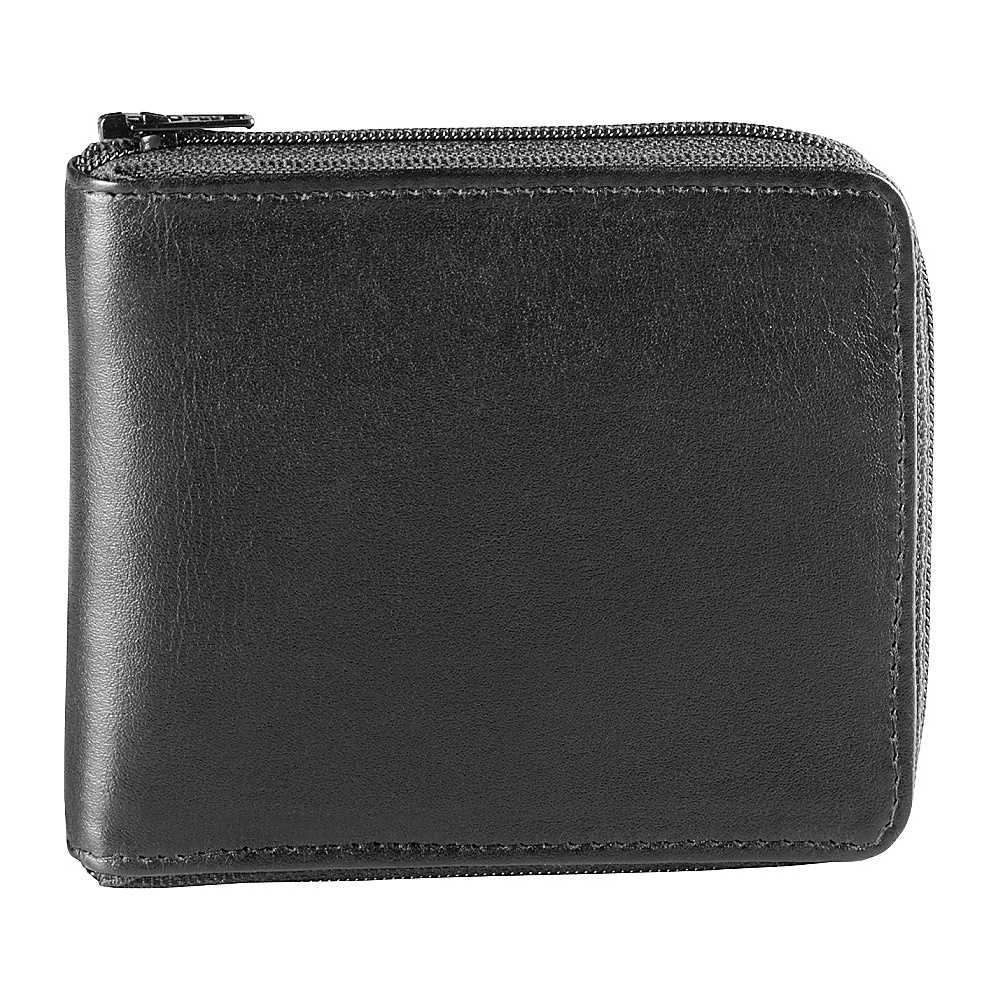 Derek Alexander Full Zip Around Credit Card Bifold Black - Derek Alexander Mens Wallets - Work Bags & Briefcases, Men's Wallets