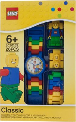LEGO Watches Classic Kids Minifigure Link Buildable Watch Blue - LEGO Watches Watches