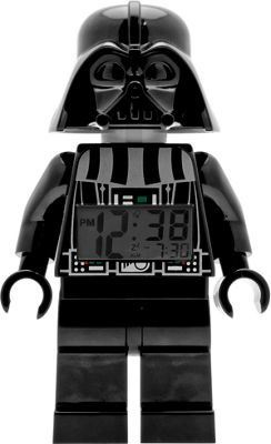 LEGO Watches Star Wars Darth Vader Kids Minifigure Light Up Alarm Clock Black - LEGO Watches Travel Electronics