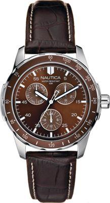 Nautica Watches Mens Wind Seeker Multifunction Watch Brown - Nautica Watches Watches