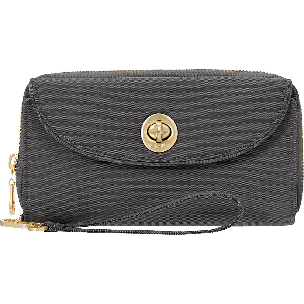 baggallini RFID Luxor Wallet Wristlet Charcoal - baggallini Womens Wallets - Women's SLG, Women's Wallets