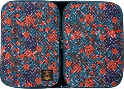 ORGO Expandable Counter and Toiletry Kit - Prints Maze of Flowers - ORGO Toiletry Kits