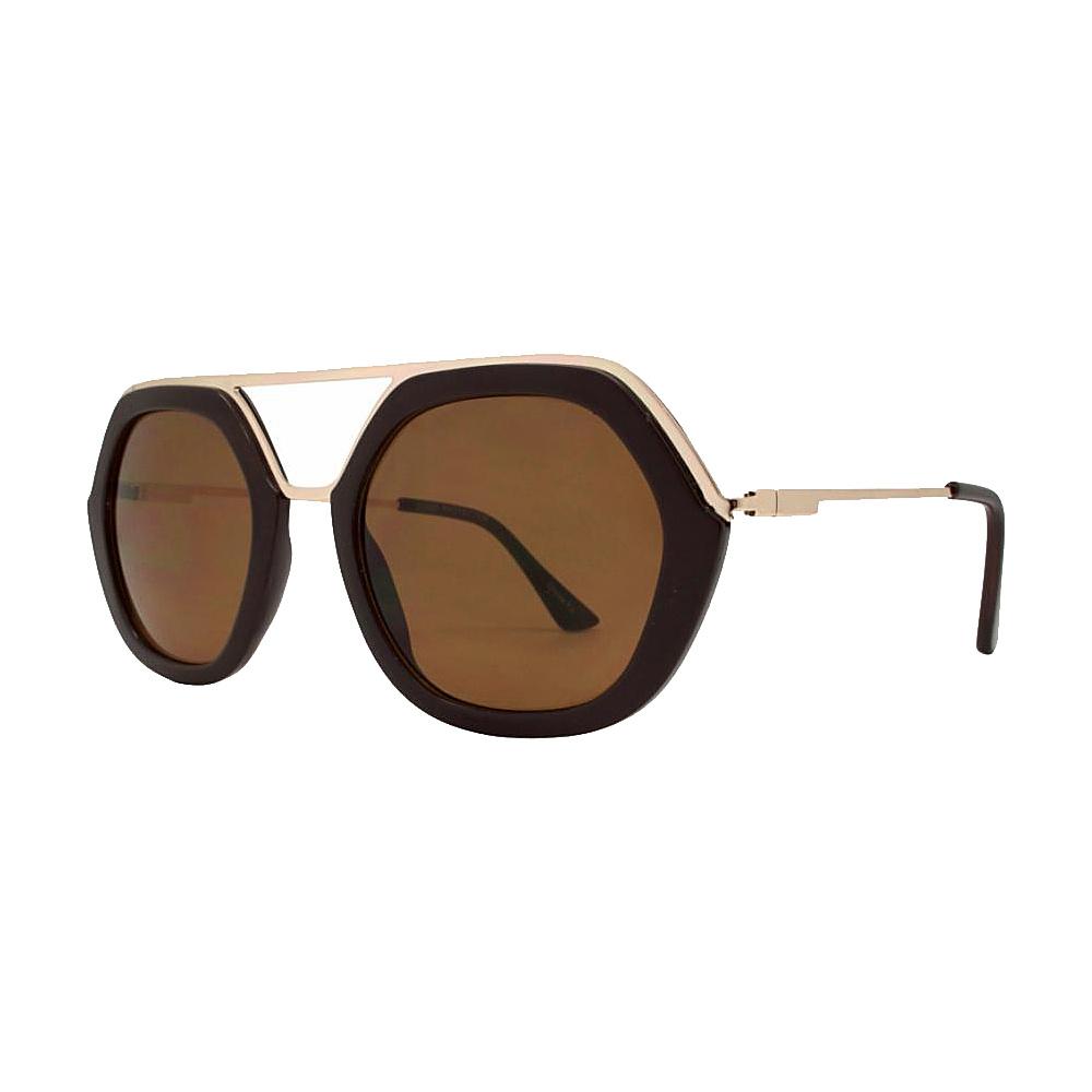 SW Global High Fashion Matrix Frame UV400 Sunglasses Brown - SW Global Eyewear - Fashion Accessories, Eyewear