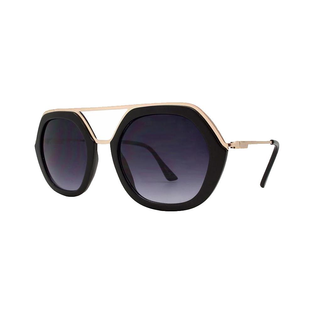 SW Global High Fashion Matrix Frame UV400 Sunglasses Black - SW Global Eyewear - Fashion Accessories, Eyewear