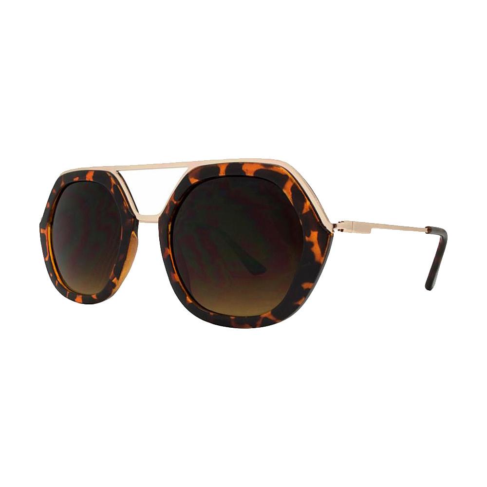 SW Global High Fashion Matrix Frame UV400 Sunglasses Gold - SW Global Eyewear - Fashion Accessories, Eyewear