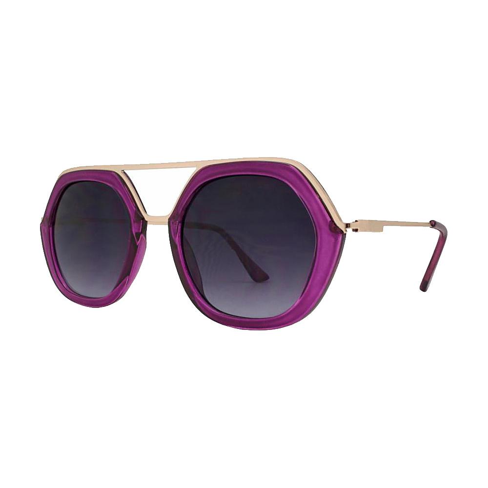 SW Global High Fashion Matrix Frame UV400 Sunglasses Purple - SW Global Eyewear - Fashion Accessories, Eyewear