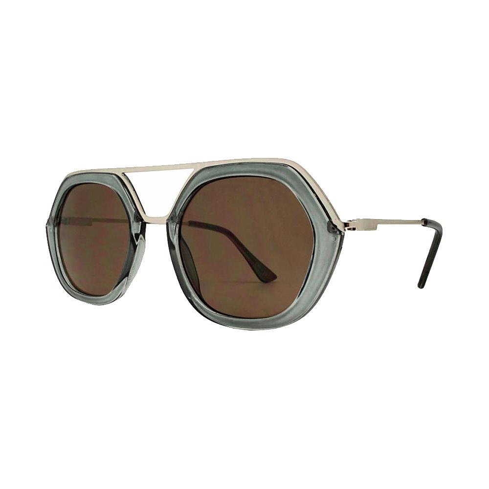 SW Global High Fashion Matrix Frame UV400 Sunglasses Grey - SW Global Eyewear - Fashion Accessories, Eyewear
