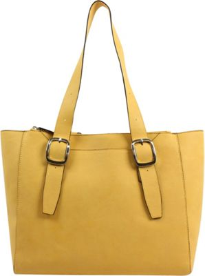 Emilie M Lisette Zip Double Shoulder Bag Amber - Emilie M Manmade Handbags