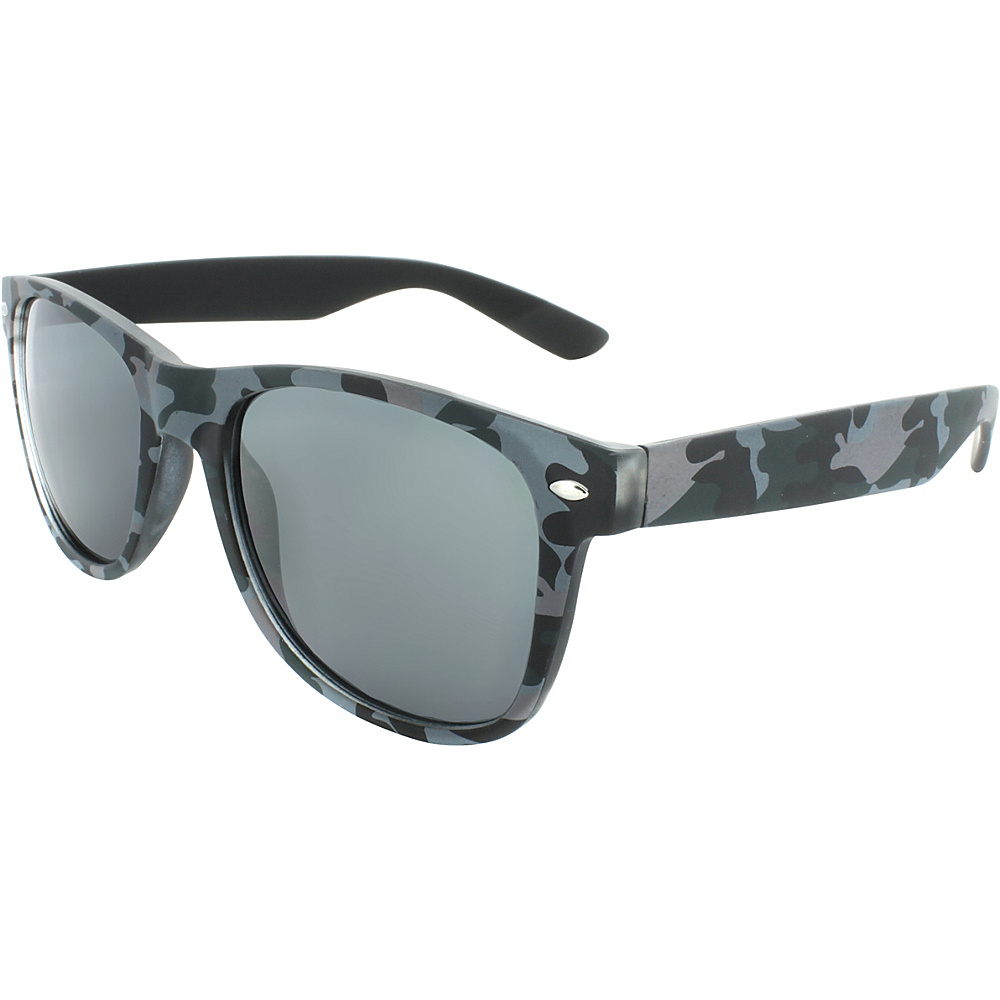 SW Global Camouflage 50mm Retro Square Sunglasses Grey - SW Global Eyewear - Fashion Accessories, Eyewear