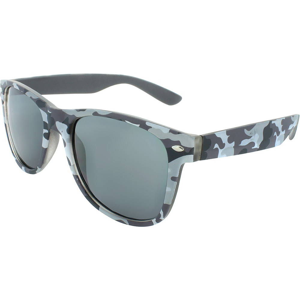 SW Global Camouflage 50mm Retro Square Sunglasses Light-Grey - SW Global Eyewear - Fashion Accessories, Eyewear