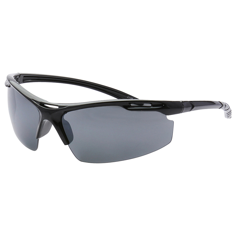SW Global Half Framed Outdoors Sports UV400 Sunglasses Black Black - SW Global Eyewear - Fashion Accessories, Eyewear