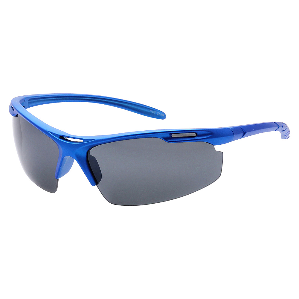 SW Global Half Framed Outdoors Sports UV400 Sunglasses Blue Black - SW Global Eyewear - Fashion Accessories, Eyewear