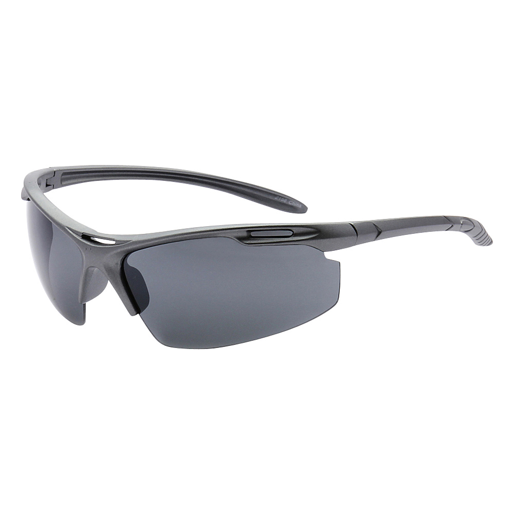 SW Global Half Framed Outdoors Sports UV400 Sunglasses Grey Black - SW Global Eyewear - Fashion Accessories, Eyewear