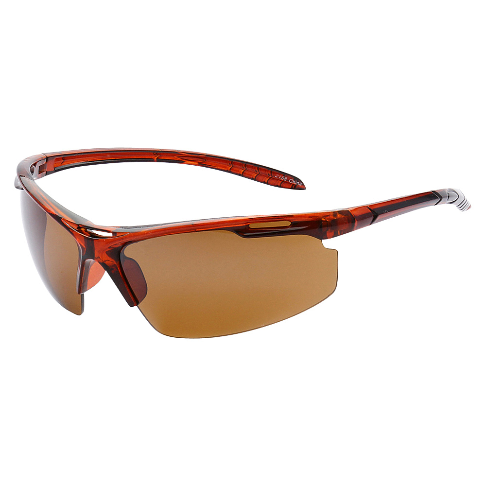 SW Global Half Framed Outdoors Sports UV400 Sunglasses Orange Brown - SW Global Eyewear - Fashion Accessories, Eyewear