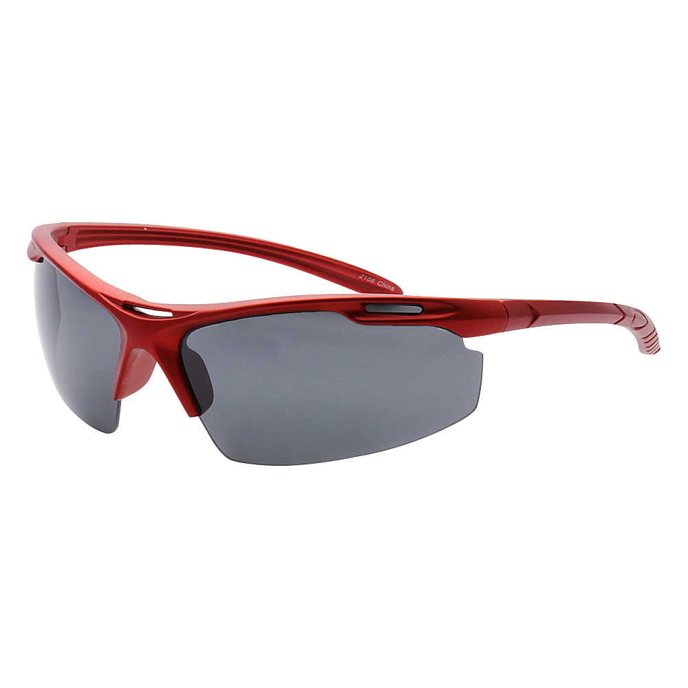 SW Global Half Framed Outdoors Sports UV400 Sunglasses Red Black - SW Global Eyewear - Fashion Accessories, Eyewear
