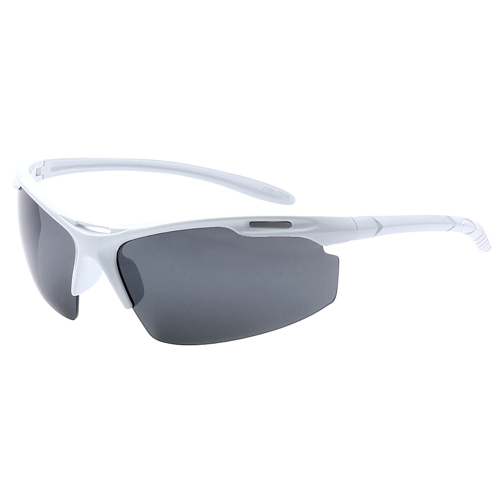 SW Global Half Framed Outdoors Sports UV400 Sunglasses White Black - SW Global Eyewear - Fashion Accessories, Eyewear