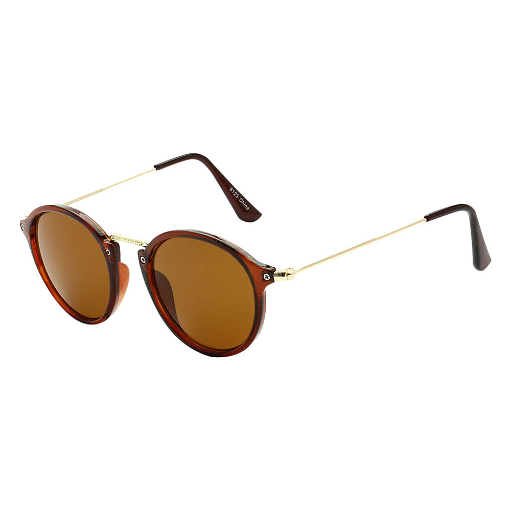 SW Global Round Fashion Club UV400 Sunglasses Brown Brown - SW Global Eyewear - Fashion Accessories, Eyewear