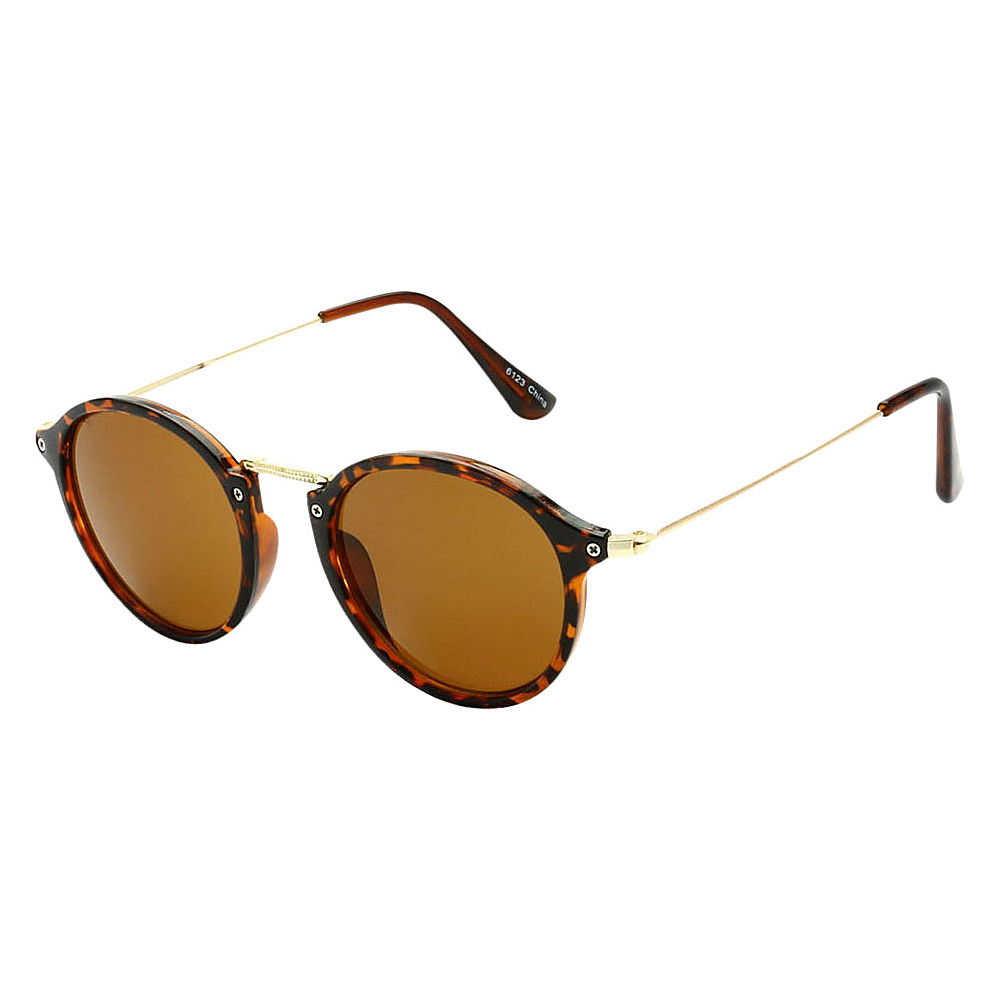SW Global Round Fashion Club UV400 Sunglasses Leopard Brown - SW Global Eyewear - Fashion Accessories, Eyewear