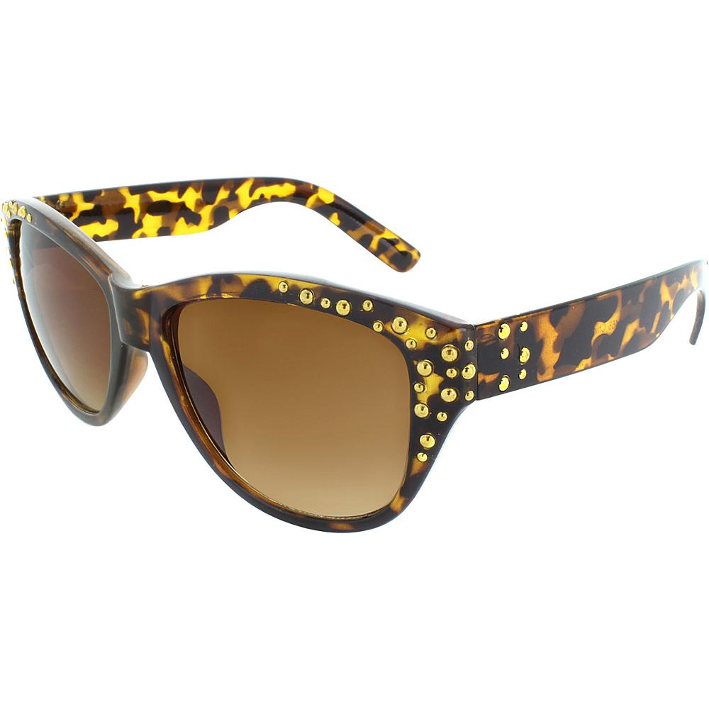 SW Global Studded Frame and Temple 53mm Cat Eye Sunglasses Leopard - SW Global Eyewear - Fashion Accessories, Eyewear