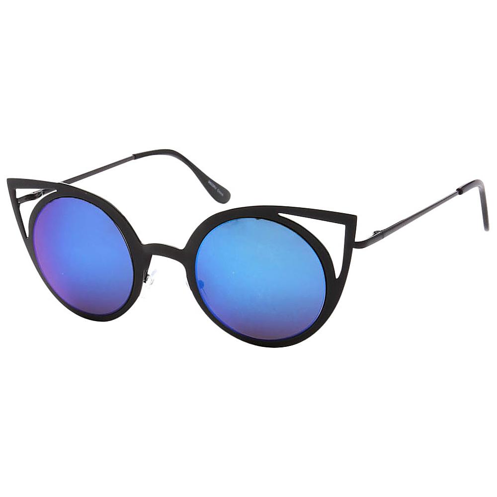 SW Global Womens Sexy Elegant Cateye UV400 Sunglasses Black Blue - SW Global Eyewear - Fashion Accessories, Eyewear