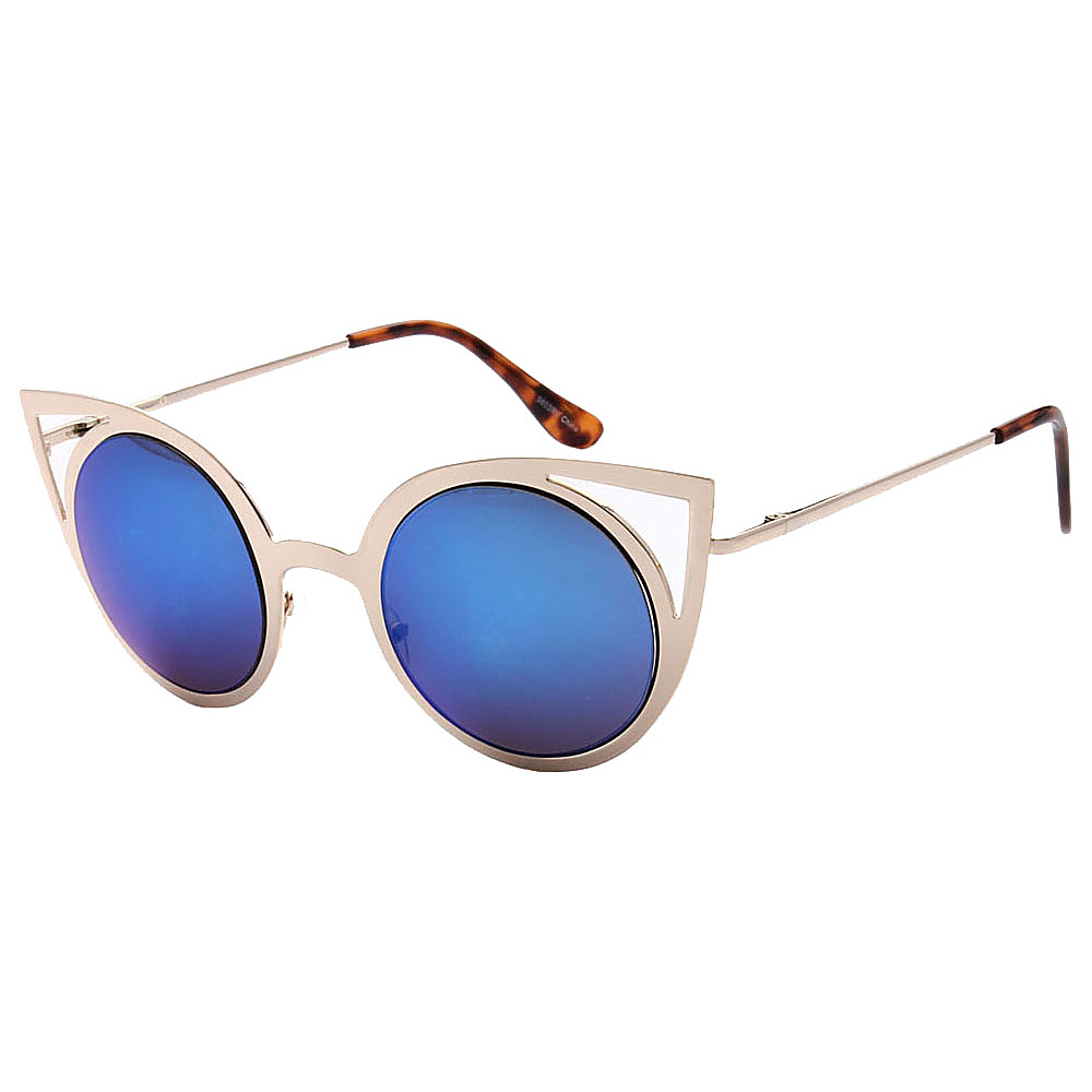 SW Global Womens Sexy Elegant Cateye UV400 Sunglasses Gold Blue - SW Global Eyewear - Fashion Accessories, Eyewear